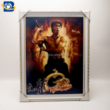 Bruce Lee 3D Lenticular Painting Classic Action 3D Picture Wall Art Photo Decoration