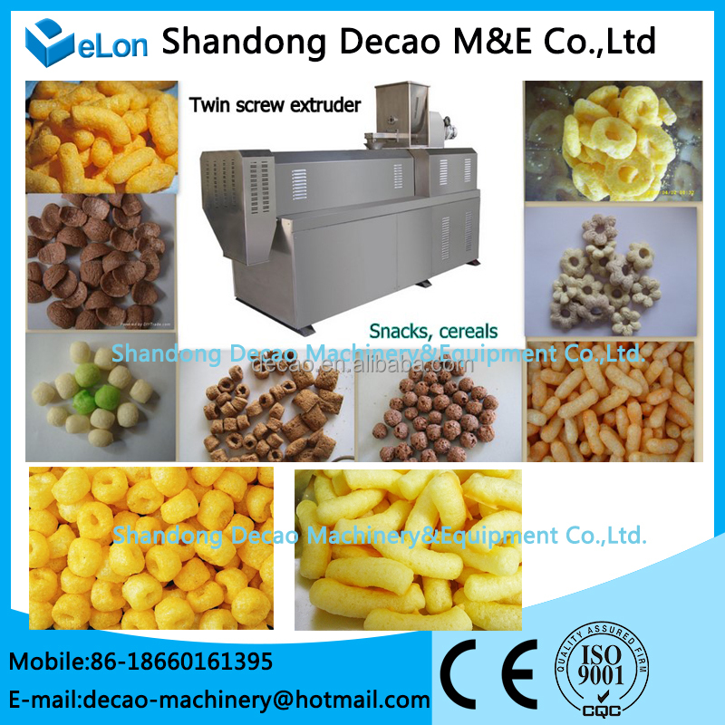 high quality ball processing machine/puffed corn snack food making machine