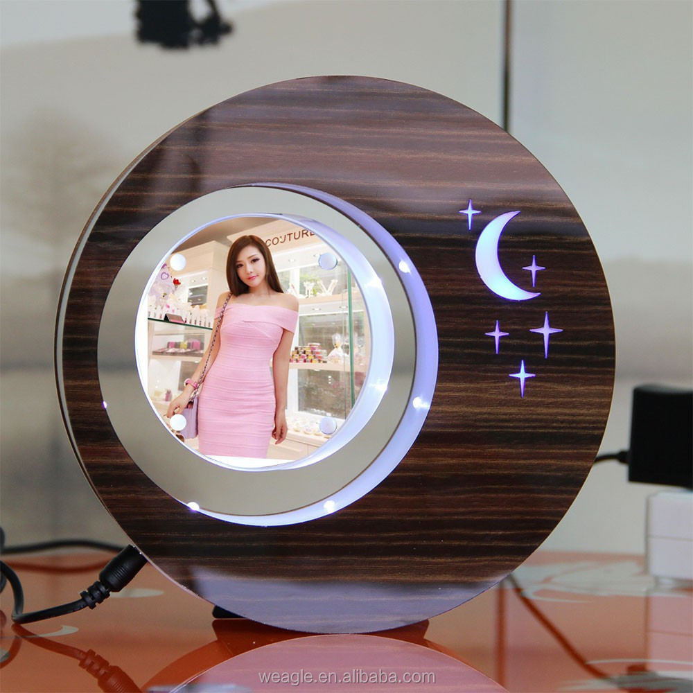 2 sides LED suspending in the air magnetic levitation photo frame different corporate <strong>gifts</strong>