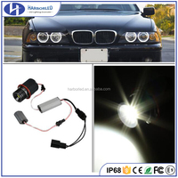 2Pcs 45W LED Angel Eye Halo Ring Marker Light Bulb for BMW E87 X5 E53 E39 White