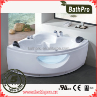 Air bubble jet optional cheap arcylic whirlpool corner massage bathtubs(R8704)