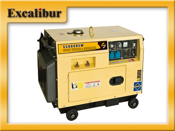 2.5KVA 3 phase slient diesel welding generator with 10hp engine