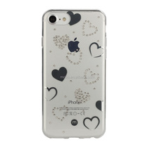 TPU+PC IML with CNC diamond luxury phone case for iPhone 6/6S/7