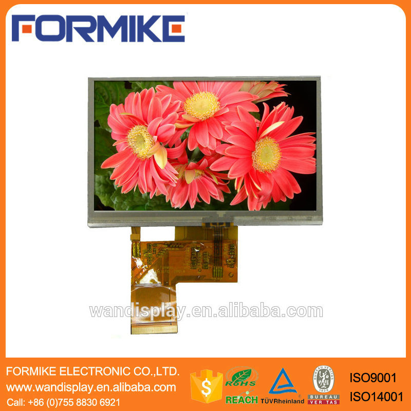 "Hot product 4.3"" tft lcd 480x272 touch module with resistive touch panel (KWH043ST12-F03 V.2 )"