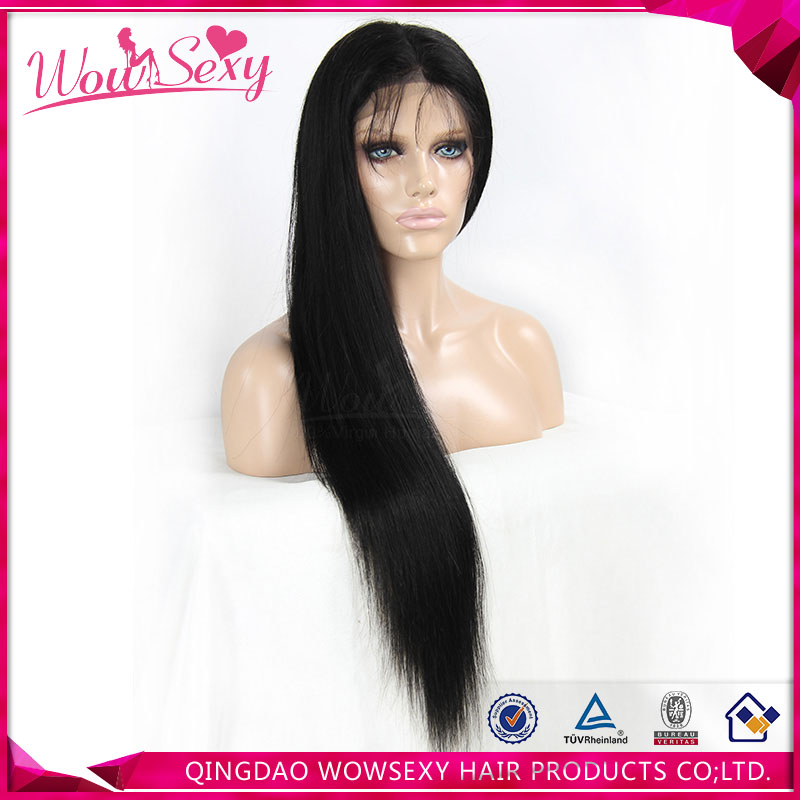Cheap Wholesale Full Thin Skin Cap Human Hair Lace Wigs