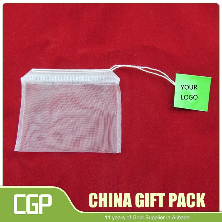 Wholesale Empty Pyramid Corn Fiber Nylon Tea Bag With String With Your Own Logo Printed