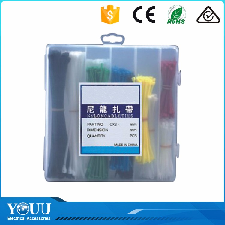 YOUU New Invention 2016 Thick Black Red Yellow Self - Locking Nylon Cable Ties