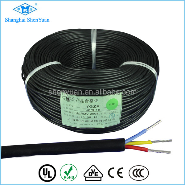 SIHF silicone cable multi core silicone rubber cable
