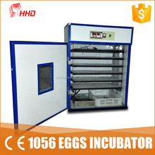 Hot! ! ! LED light egg tester full automatic cheap 1056pcs capacity poultry egg incubator for sale with CE approved