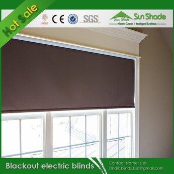 Indoor Wireless Remote Control Blackout Electric Blinds