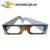 Promotional Paper 3D Fireworks Glasses Printing logo Heart Diffraction Glasses