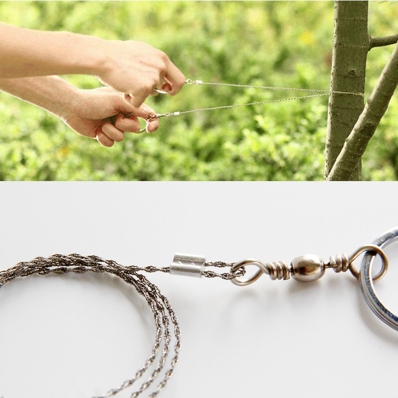 360 Degree Rotated Compact Steel Wire Saw for Emergency Portable Pocket Steel Hand Wire Saw Hacksaw Multifunction Camping Hiking