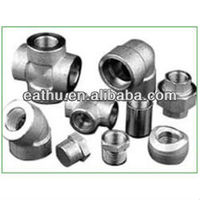 ASTM A105 carbon steel forged pipe fittings dimensions