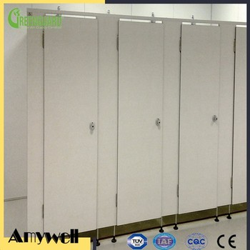 Amywell customized waterproof 12mm Formica supermaket hpl toilet partition