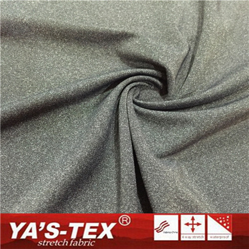 knitted polyester/nylon yarn dye Fabric cool tough soft feeling fabric for fit vest