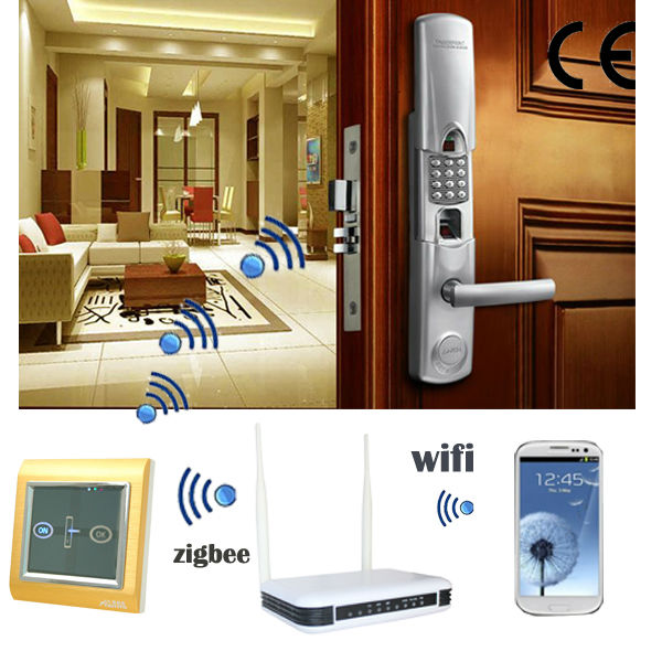 TAIYITO R&D manufacture wireless stable bidirectional Zigbee electrical fingerprint door lock switch