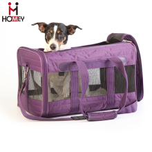 Small Animal Carrier Bag Purple Pet Carrier Tote Bag Folding