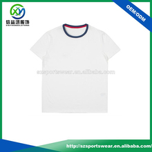 2016 pima cotton contrast collar solid color breathable mens t shirt