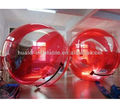 Red and transparent inflatable water walking ball