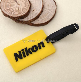 Eco-friendly custom 3D logo soft PVC rubber luggage tag