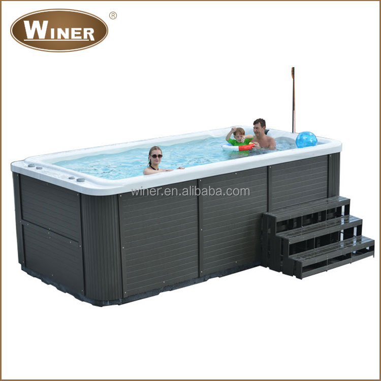 billige acryl mini portable outdoor swim spa whirlpool. Black Bedroom Furniture Sets. Home Design Ideas
