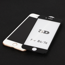 High-end full Covered 9H 3D Curved Tempered glass screen protector for iphone 7 tempered glass