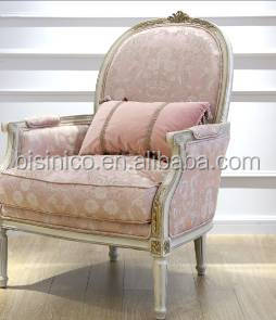 Fantastic French Lovely Wooden Carved Sofa Set In Living Room / Elegant Provincial Vintage Pink Fabric Sofa