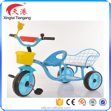 China supplier baby tricycle with double seats kids ride on toys for twins