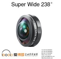 New for Europe market black no deformation full screen professional HD 238 degree super wide angle lens with case