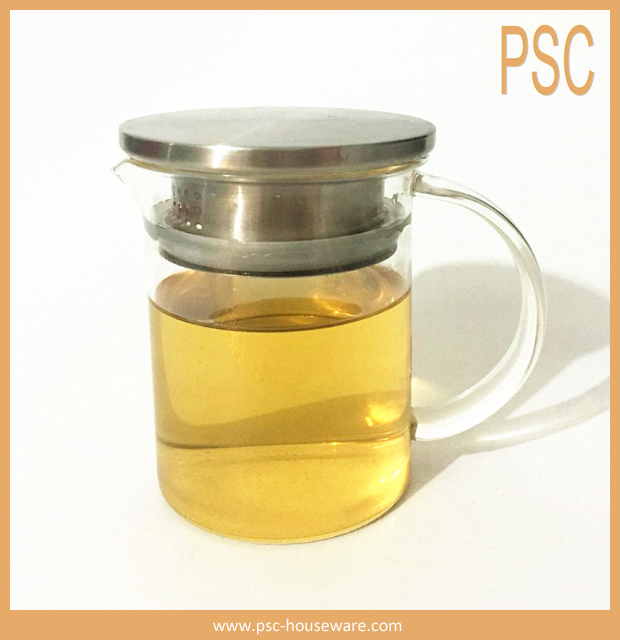 Personal Tea Glass Pot With Candle Hot Tea Maker