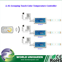 2.4G 3 Zone Touch Remote WW/CW Adjustable LED Color Temperature Controller