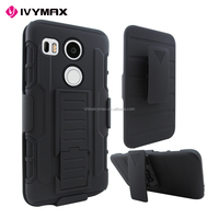 New PC silicone combo shockproof robot case for for LG NEXUS 5X holster phone cover