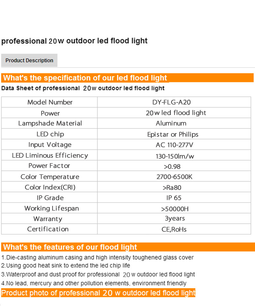 hot sale ultra slim 20w outdoor flood lights rgb led floodlight Ip65 led light led outdoor lamp
