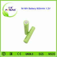 1.2v 800mah aaa ni-mh rechargeable battery with long cycle life