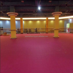 Intoxicating,nondust,cheap,chinese indoor pink badminiton hall rubber flooring