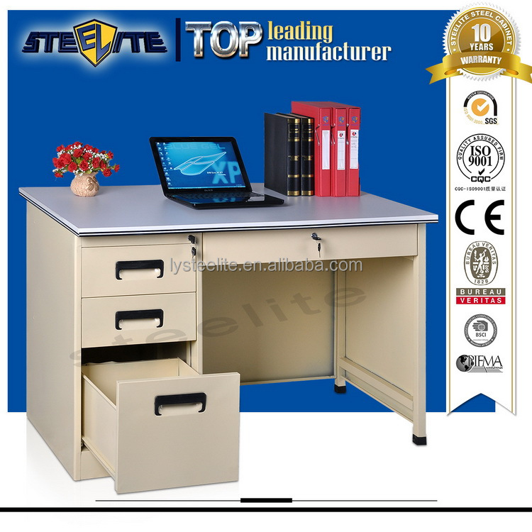 Cheap Long Stainless Steel Writing Computer Desk Compact Steel Frame Desk