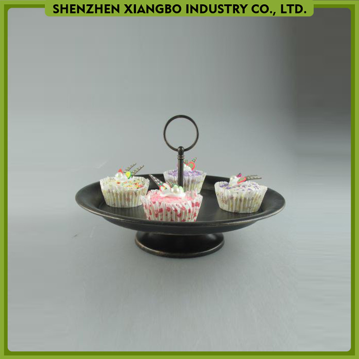 One tier wedding cake stand / cake pop stand / silver cake stand