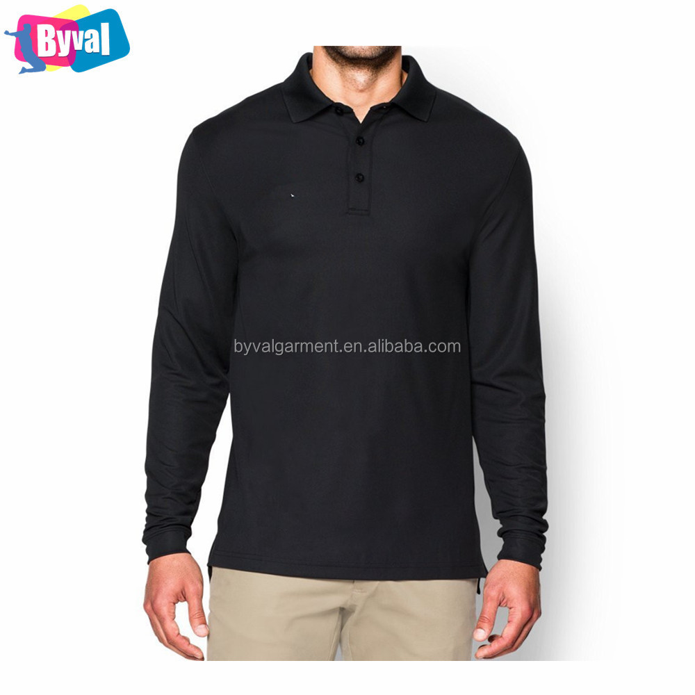 Custom Uniforms for Staff High Quality Workwear Long Sleeve Polo Shirts Soft Dry Fit T Shirts Polo Collar Embroidery Logo Unisex