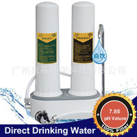 2 stages ceramic water filter by ceramic and activated carbon filter