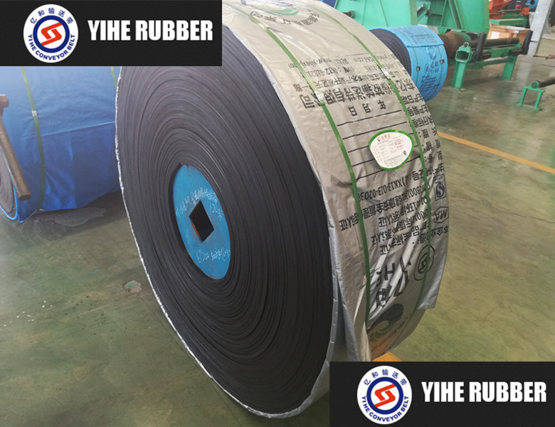 Mine steel cord black rubber conveyor belt