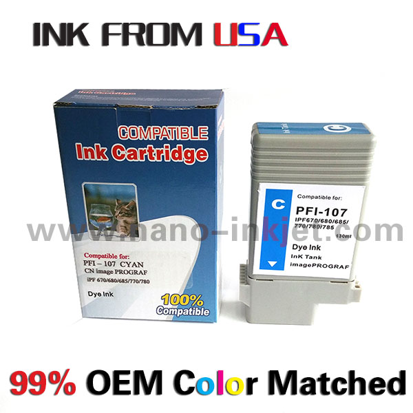 PFi-107 cartridge for Canon IPF670 IPF680 IPF685 IFP770 IPF780 IPF780 IPF785