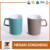 10oz matt color outside white inside wholesale ceramic latte mugs