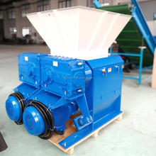 CE approved twin shaft shredder machine with CE/plastic crusher machine/pp pe film twin shaft shredder
