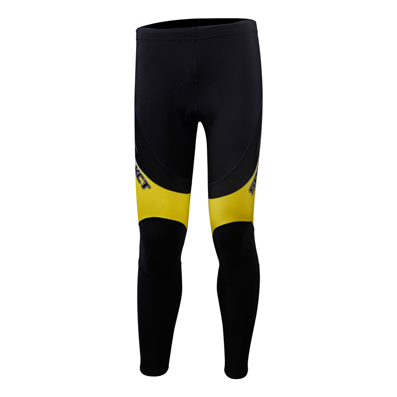 spakct phantom custom sublimation men long fleece 3D Pad cycling pants high quality sportswear