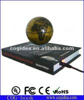 hot selling base magnetic floating globe suspending&spinning world globe nice globe display on desk or indoor
