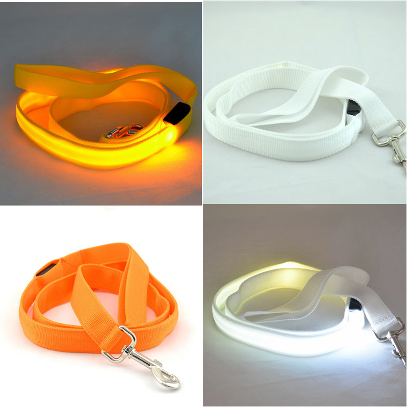 New Premium Products 2016 Led Flashing Nylon Dog Leash Pet Harness Dog Lead Chain