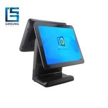Newest 15 Inch With 12 Inch LCD Monitor Dual screen Pos System For Retail