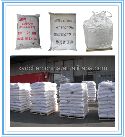Raw material White powder sodium gluconate/SG 99% 98% low price for Food /Concrete/Textile/Water treatment agent