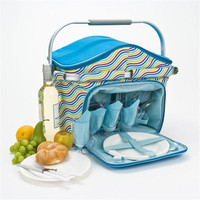 picnic baskets with accessary insulated picnic basket for two portable folding basket