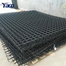 65Mn steel wire Iron wire square Hole crimped wire mining screen mesh
